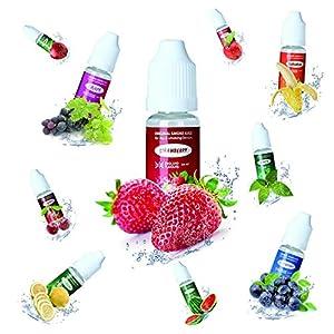 10 x 10ml Premium E-Liquid Set für E Zigarette und E Shisha 0mg ohne Nikotin Fruchtgeschmack
