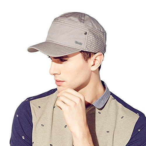 Kenmont Les Hommes de Printemps d'été des Cadets de Sexe Masculin Casquette Militaire Coton visière Chapeau de Soleil (plombé)