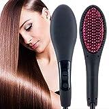 TilesPalace 2 in 1 Straight Ceramic Hair Straightener, Curler and Styler Brush for Women (Multicolour)