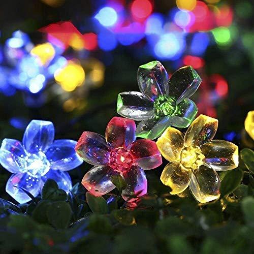 Solar Lichterkette Außen, TryLight 7M 50 Led Blumen Lichterkette lichterkette Aussen für Garten, Weihnachten,Halloween, Party, Balkon deko