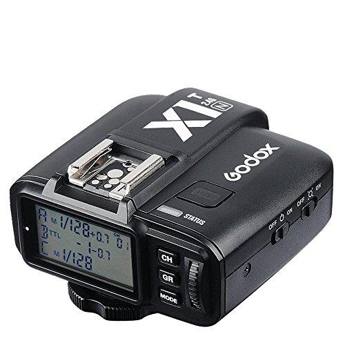 Godox X1T-N Selens iTTL 2,4 GHz Drahtlos-Hot-Shoe-Blitzauslöser Sender mit HSS 32 Kanäle für Nikon DSLR Kamera schwarz Wireless Hot Shoe