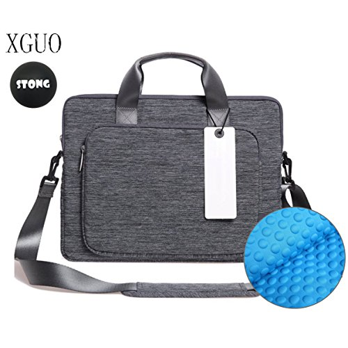 Laptop Tasche, XGUO 13 Zoll Laptop Aktentaschen Schultertaschen Für Surface Pro 4 Surface Book MacBook Air 13 Dell XPS 13 HP Spectre X360 iPad Pro 12.9 Tasche Hülle Sleeve(13.3 Zoll, Grau)