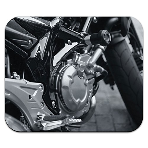 motorrad-close-up-motor-chrom-b-w-mouse-pad-mousepad