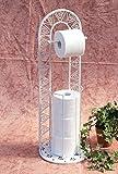 DanDiBo Toilettenrollenständer 091427 Weiß 70 cm Toilettenpapierhalter WC - Rollenständer