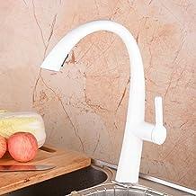 Rubinetto cucina bianco - Rubinetto cucina a muro con doccetta ...