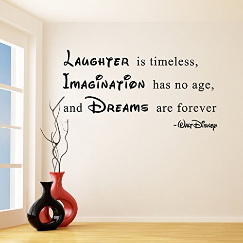 180x-97cm-en-vinyle-Sticker-mural-en-vinyle-texte-rire-est-intemporel-lImagination-est-sans-age-Dreams-Are-ForeverWalt-Disney-Sticker-Citation-sans-en-cadeau