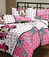 Monil Cotton Minny Mouse Printed AC Blanket, Multicolour