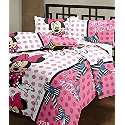 Monil Single Bed Ac Blanket/ Dohar Minny Mouse Print