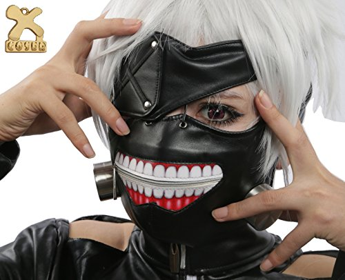 (Tokio Ghoul Cosplay Kaneki Ken Maske Anime Costume Halloween Karnevals Party)