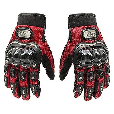 Fortag Motorradhandschuhe kurze Sport Leder Sommer Winter Vollfinger Handschuhe Blau