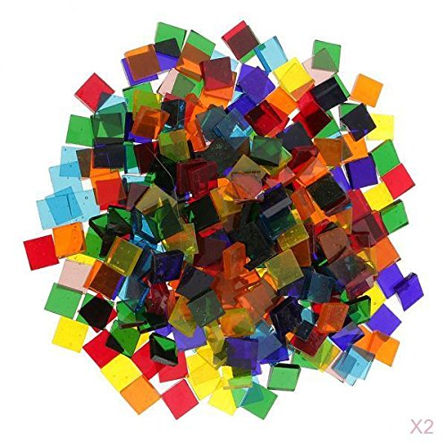 MagiDeal Set De 500 Mosaïque En Verre Multicolore Décor Créatif De Tasse DIY Artisant