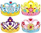 Hifot lavoretti creativi per Bambini DIY Corona 4 Pezzi, Principessa Tiara diademi Kit Hobby creativi Mestieri Forniture per Feste, Accessori Articoli Feste Compleanno