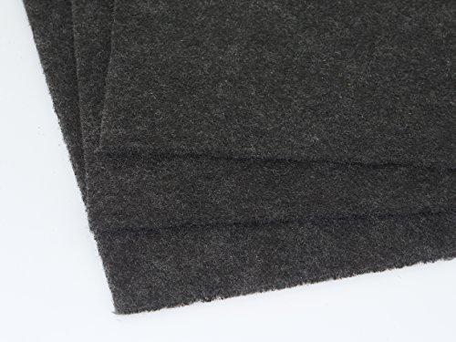 1 Stück Aktivkohle Filtervlies Filtermatte ca. 0,5 x 1m Dicke ca. 5-6mm Universal Dunstabzug-Aktivkohlefilter, Individueller Zuschnitt für Dunstabzugshaube Aktivkohlefilter Kohle Umlufthaube Filter für Küche Luftreinigungsanlage Rauchfilter allg. Geruchsbelästigung