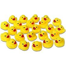 Schramm 24er Pack Gummiente Quietsche Ente Gelb ca. 3,5 cm Quietscheente Badeente Bade Ente Enten Badeenten Gummienten