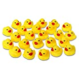 Schramm® 24er Pack Gummiente Quietsche Ente gelb ca. 3,5 cm Quietscheente Badeente Bade Ente Enten Badeenten Gummienten