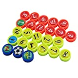 26 Stück Mini Magnet mit Tasche, Perfekt für Fußball Taktikboards, Büro, Whiteboards, Kühlschränke, Karten & Magnettafeln