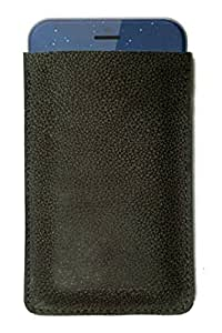 Chalk Factory Premium Genuine Leather Ltd Edition Ultra Slim Sleeve Cover Pouch Case for Motorola E378i Mobile Phone