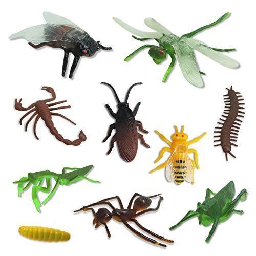 Luccase 10 Spezies von Kunststoff PVC Tiersammlung Insekt Spielzeug für realistische pädagogisches Spielzeug für Partei Halloween Bevorzugungen