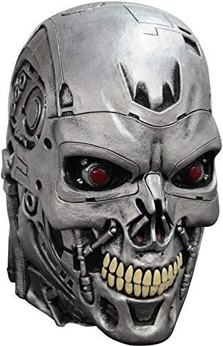 Schwarzenegger Arnold Kostüm - Terminator Genisys Maske Lizenzware Cyborg Silber Einheitsgröße