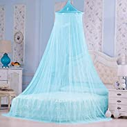 Styles Closet Polyster Round Ceiling Mosquito Net(Double Bed,6.5 * 6.5 ft) (Sea Green)