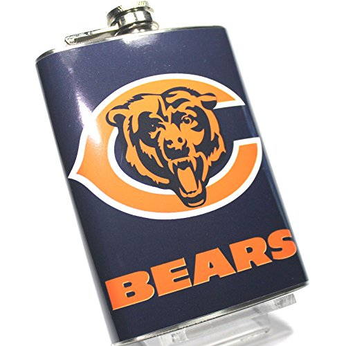 chicago-bears-hip-flask-s5-8oz-high-quality-stainless-steel-hinged-screw-cap-boxed-by-nick-nack-mart