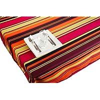 ExclusivoCIR Manteles RAYAS MULTICOLOR estampados antimanchas Colores Primaverales Decoracion Hogar (300 x 150)