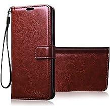 Bracevor Redmi Y1 / Redmi Y1 Lite/Xiaomi Redmi Note 5A Premium Flip Cover Leather Case   Inner TPU   Wallet Stand - Executive Brown