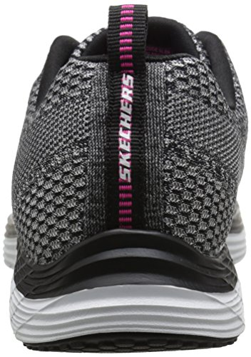 Skechers Valeris, Baskets Basses Femme Argent (Argent/Noir)