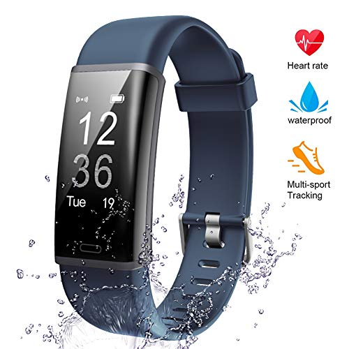 Lintelek Fitness Armband Fitness Tracker mit Pulsmesser Fitness Uhr Schlaf Monitor Schrittzähler Aktivitätstracker Pulsuhren Smart Armbanduhr IP67 wasserdicht Kalorienzähler MEHRWEG