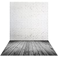 Muzi 150x250cm blanco pared de ladrillo telón de fondo gris madera fondo recién nacido fotografía fondo vinilo photography Fondo Para Suelos de madera Drop xt-5477