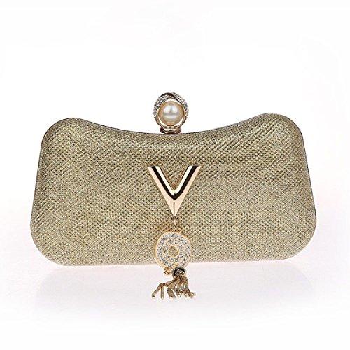 Kristall Sequin Abend Hochzeit Braut Prom Geldbörse Clutch Taschen Handtaschen Einfach Stilvoll Handtasche Diamant Kleid Pack Gold