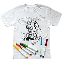 Disney Camiseta Minnie Mouse para Pintar, con 6 Pinturas (5-6 años)