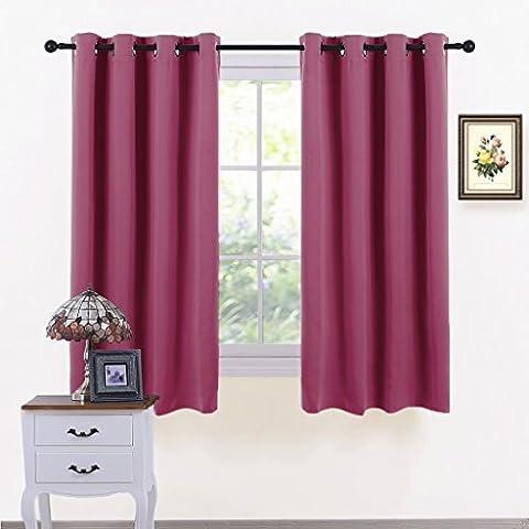 Eyelet Thermal Blackout Curtains Panels - PONY DANCE Premium Thermal