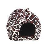 Schöne Strawberry weicher Kaschmir Warm Pet Nest Hundehütte Hundebett Bett klappbar für Kleine und Mittelgroße Hund Katze Leopard