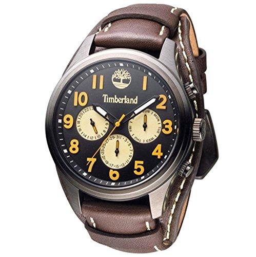 TIMBERLAND Hommes Chronographe Quartz Montre avec Bracelet en Cuir TBL.14477JSU/02