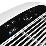 De'Longhi Pinguino PAC AN98 ECO Silent - mobiles Klimagerät mit Abluftschlauch, Klimaanlage für Räume bis 95 m³, Luftentfeuchter, Ventilationsfunktion, 24h-Timer, 2,7 kW, 75 x 45 x 39,5 cm, weiß/blau - 9