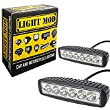 #5: 2pc. LightMod Bar 18 Watt Bike Auxillary Fog Lamp Light Spot Light Bulb Offroad Motorcycle LED