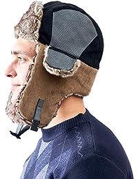 AHAHA Cappello Bomber per Uomo Cappelli Aviatore Cappello da Caccia Russo  Invernale c05d4e205369