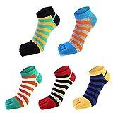 wyhweilong Fünf Zehe Socken Baumwolle Aktivität Laufen No show Finger Socken (TYPE TWO)