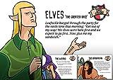 Hero Master A3 (11.7 x 16.5) Humorous Fantasy Art Print, Triple Pack- The Barbarian, The Wizard, Elves geek humour