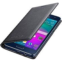 Samsung Etui de Protection Folio avec Fonction Marche/Arrêt Ecran Automatique pour Samsung Galaxy A3 (2015) - Noir Charbon