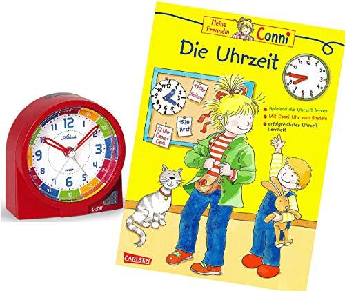 Ohne Ticken Mädchen Rot mit Lernbuch Conni Buch Uhrzeit Lernen - 1937-1 BU ()