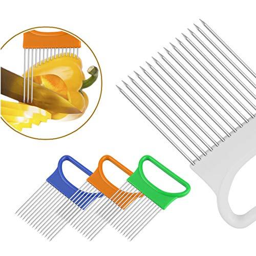 Slicing Cutter Gadget Zwiebelschneider Multifunktions Tomate Halter Schneid Aid Guide Halter Edelstahl Sicher Gabel