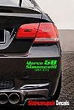Marco Simoncelli 58Qualität Vinyl für Auto/Motorrad Aufkleber, Moto GP (Lime Grün))