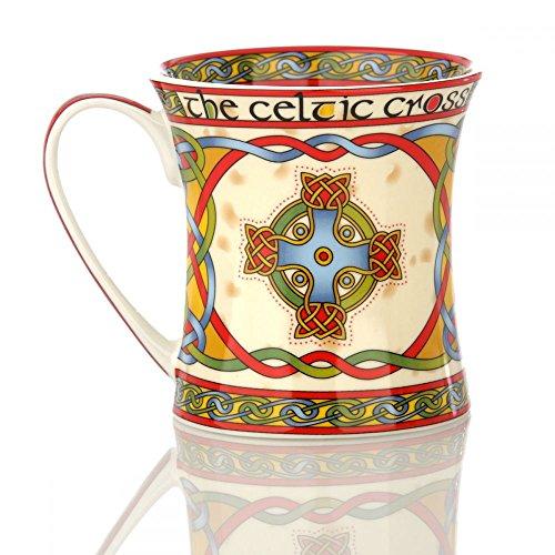 Eburya Celtic Cross Mug - Kaffeebecher aus Irland mit keltischem Kreuz & Ornamenten