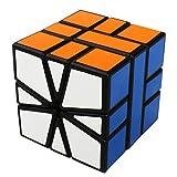 COOJA Square One Cube Square-1 Speed Cube, Zauberwürfel Unregelmäßig Square Cube 3D Puzzle Cube Würfel Speedcube -Schwarz