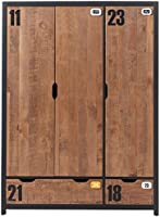 Vipack AXKL1319 Alex Armoire 3 Portes Pin Massif Nature 147,5 x 55 x 200 cm