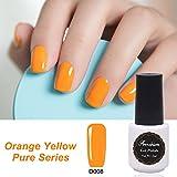 Frenshion 5ml Smalto Semipermante Gel Nail Polish UV LED Soak off Giallo arancio 008