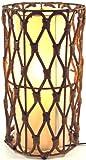 Guru-Shop Tischlampe/Tischleuchte Maniera 30,40 - in Bali Handgemacht aus Naturmaterial, Rattan, Größe: 40 cm, Dekolampe Stimmungsleuchte