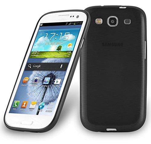 Cadorabo Custodia per Samsung Galaxy S3 / S3 Neo in Nero Profondo – Morbida Cover Protettiva Sottile di Silicone TPU con Bordo Protezione – Ultra Slim Case Antiurto Gel Back Bumper Guscio